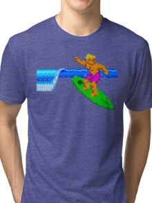 CALIFORNIA GAMES - SURFING - MASTER SYSTEM Tri-blend T-Shirt