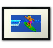 CALIFORNIA GAMES - SURFING - MASTER SYSTEM Framed Print