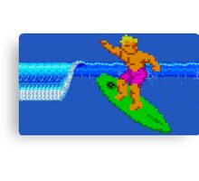 CALIFORNIA GAMES - SURFING - MASTER SYSTEM Canvas Print