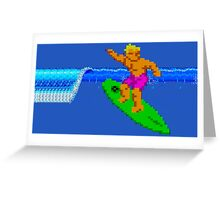 CALIFORNIA GAMES - SURFING - MASTER SYSTEM Greeting Card