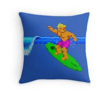 CALIFORNIA GAMES - SURFING - MASTER SYSTEM Throw Pillow