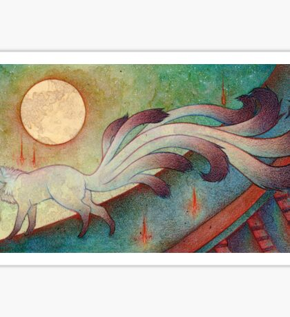 The Messenger - Kitsune, Fox, Yokai Sticker