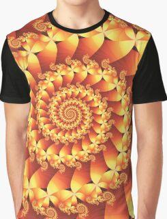 Fire Spiral Graphic T-Shirt
