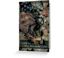 Fallout - Lend A Hand For Uncle Sam Greeting Card