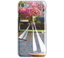 Boating at Aubery, Largs iPhone Case/Skin