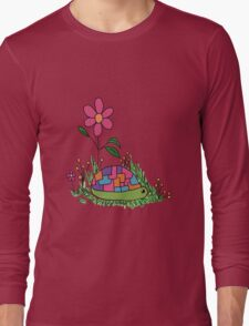 Turtle In the Flowers Long Sleeve T-Shirt