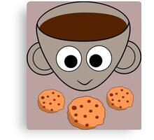 Funny coffee and cookies Canvas Print