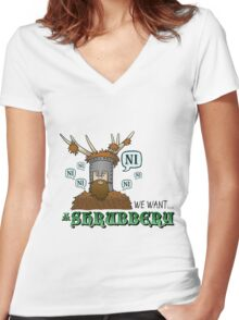 We Want A Shrubbery - Nights Who Say Ni COLOUR Women's Fitted V-Neck T-Shirt