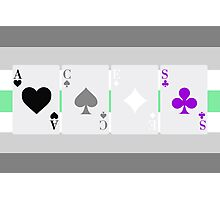 Aces on Agender flag Photographic Print