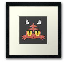 Fire Cat Monster Framed Print