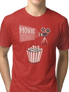 Cinema motion picture. Movie time. Tri-blend T-Shirt