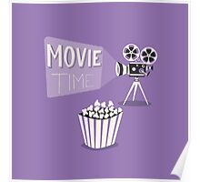Cinema motion picture. Movie time. Poster