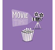 Cinema motion picture. Movie time. Photographic Print