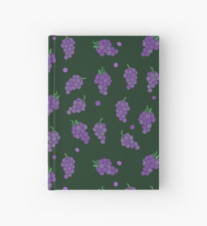 Wine drinking pattern purple grapes  Hardcover Journal