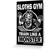 Sloths Gym Greeting Card