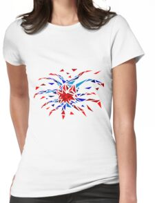 Low Poly Firework Womens Fitted T-Shirt