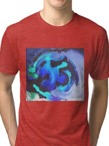 Swim with the Mermaids in the Great Natural Deep Blue Sea Tri-blend T-Shirt