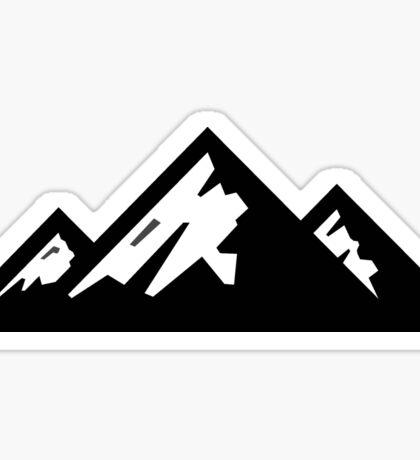 Mountain Mountains Skiing Ski Silhouette SNOWBOARD SNOWBOARDING Sticker