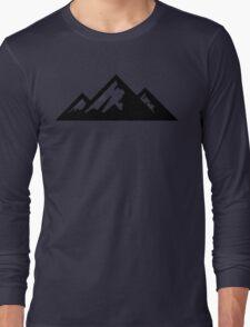 Mountain Mountains Skiing Ski Silhouette SNOWBOARD SNOWBOARDING Long Sleeve T-Shirt