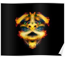 Fiery Face Poster