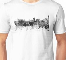 Manchester skyline in black watercolor Unisex T-Shirt