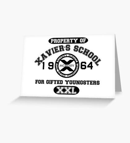 X-MEN XAVIER´S SCHOOL Greeting Card
