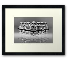 Storm Troopers Line up 2 Framed Print