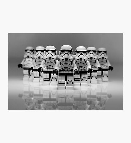 Storm Troopers Line up 2 Photographic Print