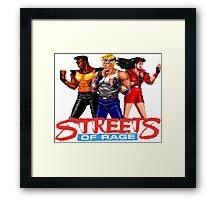 STREETS OF RAGE - AXEL-BLAZE-ADAM  Framed Print