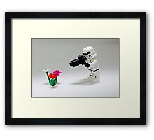 Storm Trooper Photographer Framed Print