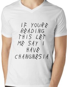 Changnesia, too late Mens V-Neck T-Shirt