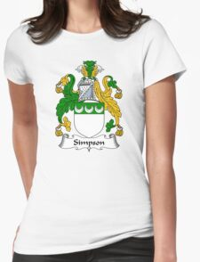 Simpson Coat of Arms / Simpson Family Crest Womens Fitted T-Shirt