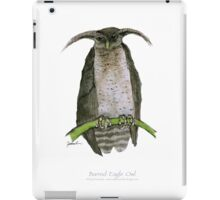barred eagle owl, tony fernandes iPad Case/Skin
