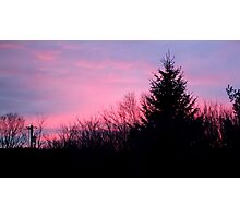 Cotton Candy Sunset Photographic Print