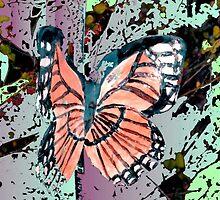 Orange butterfly design by ♥⊱ B. Randi Bailey
