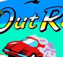 OUT RUN SEGA ARCADE 80s Sticker