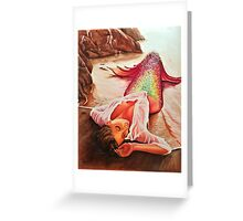 Mermaid in the Sunset Greeting Card