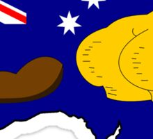 SIMPSONS VS AUSTRALIA Sticker