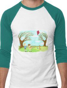 Kites Are Fun Men's Baseball ¾ T-Shirt