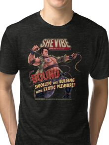 SheVibe Presents Bound a Tantus & Vibeology Collaboration Tri-blend T-Shirt