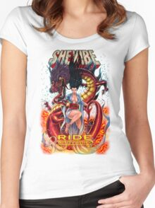 SheVibe Ride BodyWorx by Sliquid Cover Art Women's Fitted Scoop T-Shirt