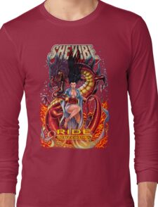SheVibe Ride BodyWorx by Sliquid Cover Art Long Sleeve T-Shirt
