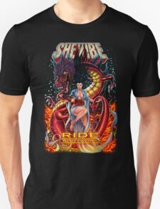 SheVibe Ride BodyWorx by Sliquid Cover Art Unisex T-Shirt