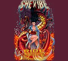 SheVibe Ride BodyWorx by Sliquid Cover Art Womens Fitted T-Shirt