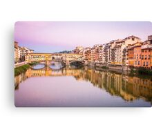 Golden Bridge, Florence Canvas Print