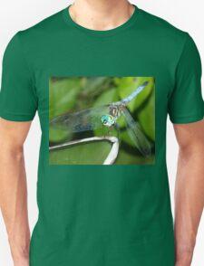 Blue dragonfly with aqua eyes Unisex T-Shirt