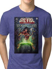 SheVibe Sliquid Cover Art Tri-blend T-Shirt