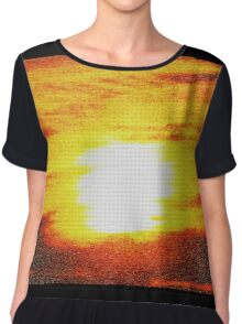 Abstract From The Sun Chiffon Top