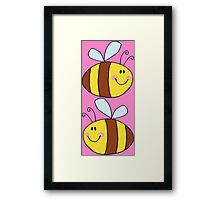 Cute Bumble Bee Drawing  Framed Print
