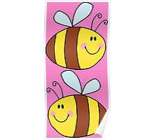 Cute Bumble Bee Drawing  Poster
